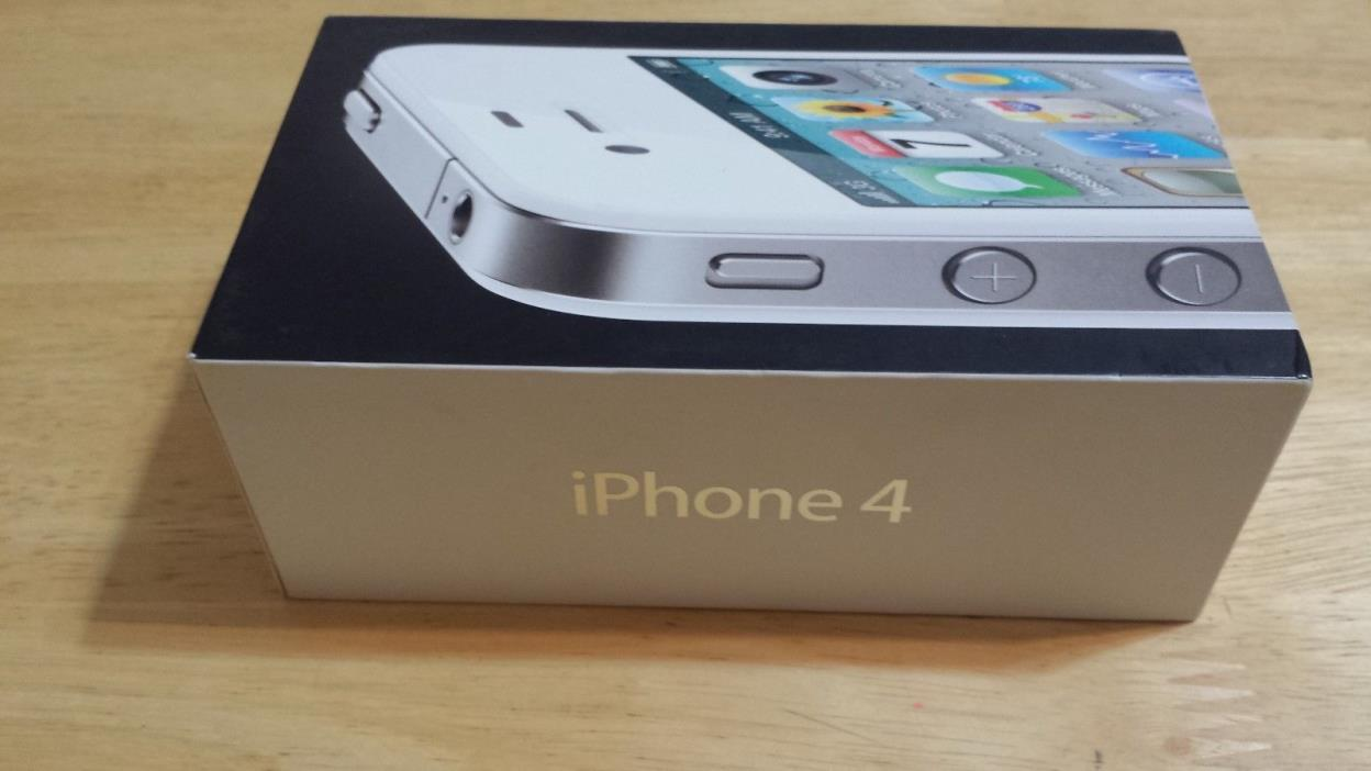 IPHONE 4 ORJINAL WHITE COLOR BOX 16GB ONLY BOX