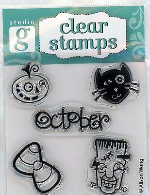 Studio G October Halloween Clear Stamp Set - VC0002 Series 25