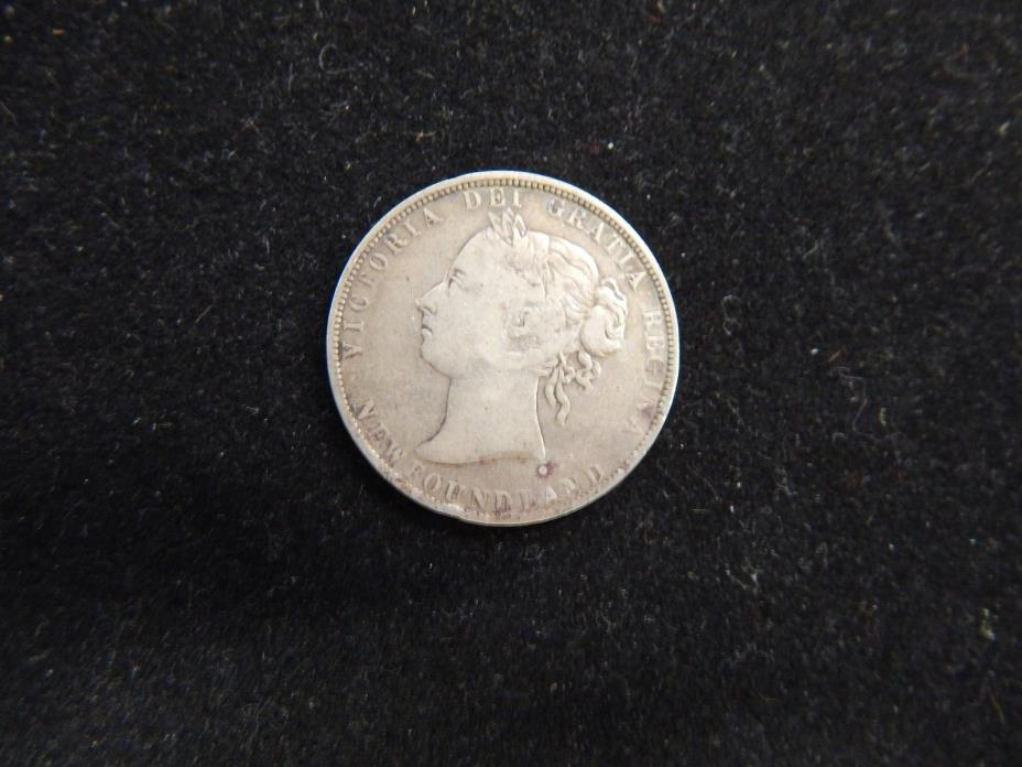 1899 Newfoundland 50 Cents Young Victoria