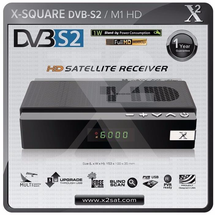 X2 HD DVB-S2 Mini Digital Satellite Receiver Ku or C-Band US Edition