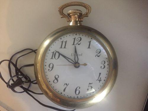 United pocket watch electric wall clock 8
