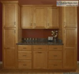 Traditional kitchen cabinets light finish