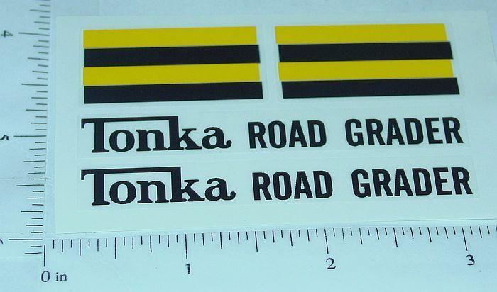 Tonka Road Grader 1962-Newer Sticker Set         TK-041