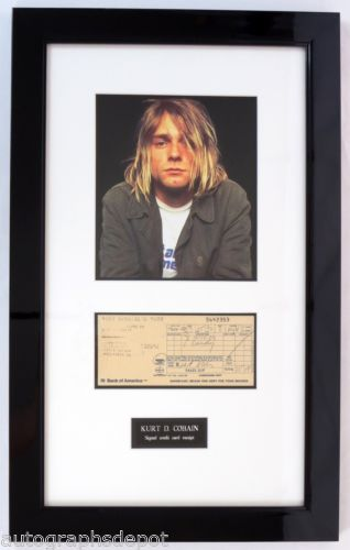 Nirvana's KURT COBAIN personal credit card receipt - RARE FULL SIGNATURE!