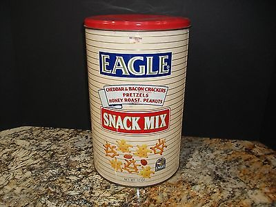 32oz. EAGLE SNACK MIX TIN~ANHEUSER-BUSCH CO.~USA~ ADVERTISE/STORE/COLLECT/DECOR