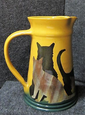 Westcot Bell Pottery Milk Pitcher, Cat Design