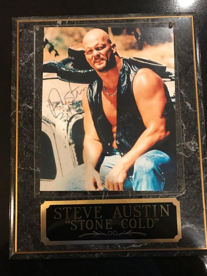 WWF Stone Cold Steve Austin Autographed Framed Picture