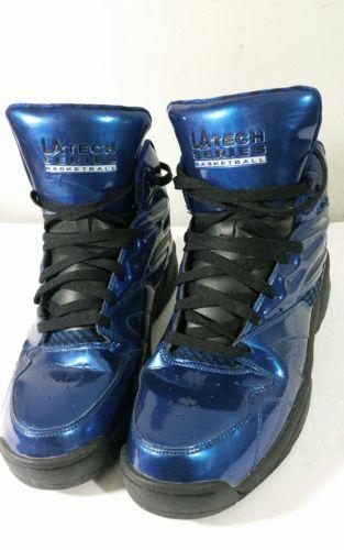 LA Gear Tech Basketball Sneakers Light Up in Soles Blue size 12.
