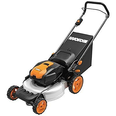 Walk-Behind Lawn Mowers WORX WG772 56V Lithium-Ion 3-in-1 Cordless Mower with 2
