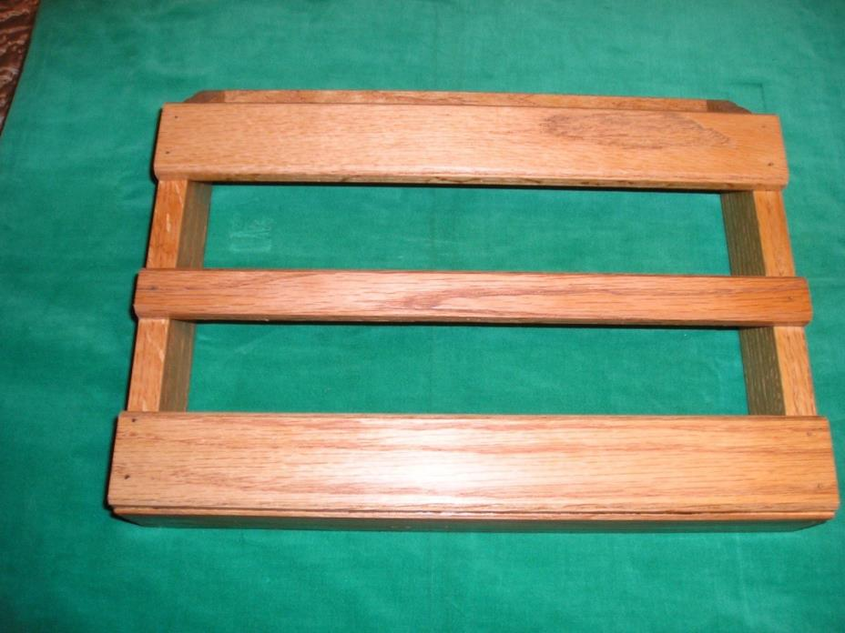 Hand made solid  Oak magazine racks