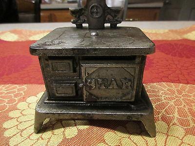 Cast Iron  STAR salesman's sample wood burning stove range , Nice One