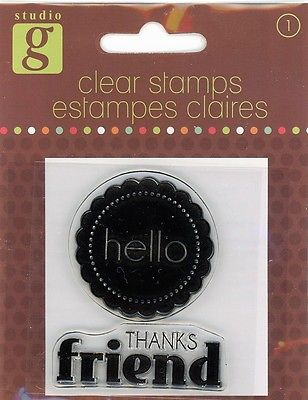 Studio G Hello/Thanks Friend Clear Stamp Set - VC0012 Series 65