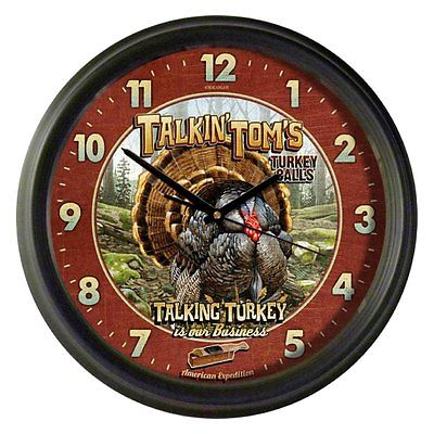 American Expedition - Vintage Talkin Tom's Turkey Calls Clock
