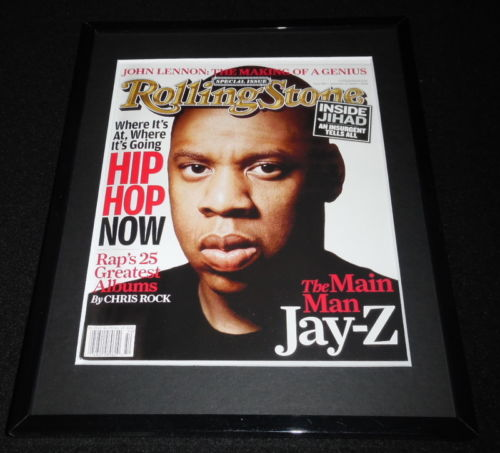 Jay Z Framed December 15 2005 Rolling Stone Cover Display