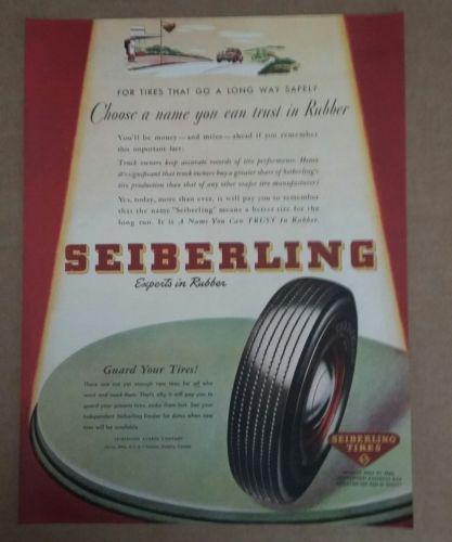1945 Seiberling Tire Ad
