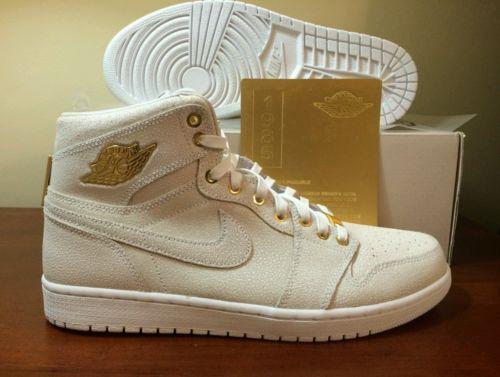 NIB Nike Air Jordan 1 Pinnacle White Metallic Gold Size 11.5 705075 130 DS