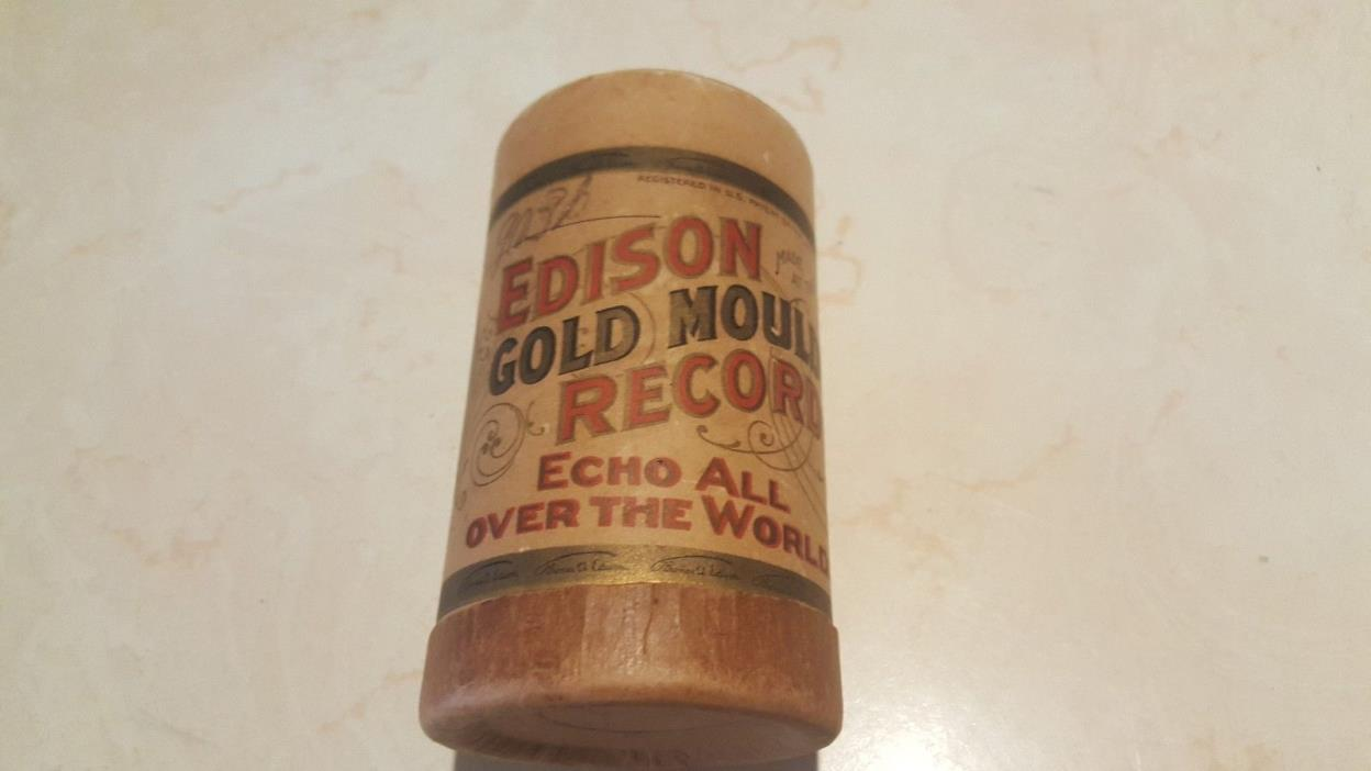 Edison Gold Moulded Records Container