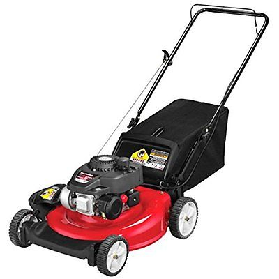 Walk-Behind Lawn Mowers Yard Machines 140cc 21-inch 3-in-1 Push Mower