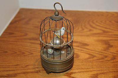 Rare brass bird cage Mechanical Table Clock Alarm Clock Automaton