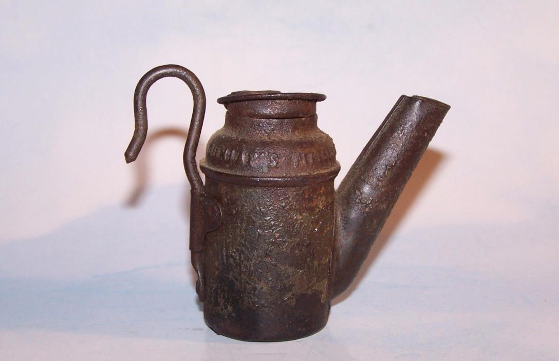 Antique Dunlap Teapot Coal Miners Lamp