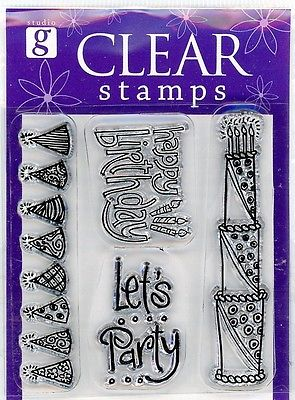 Studio G Happy B-Day Party Clear Stamp Set -VS4911 Series 7