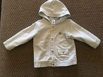 Old Navy 6-12 months Hooded Jacket Blue w/ Little Puppy, Snaps up Front & Pocket