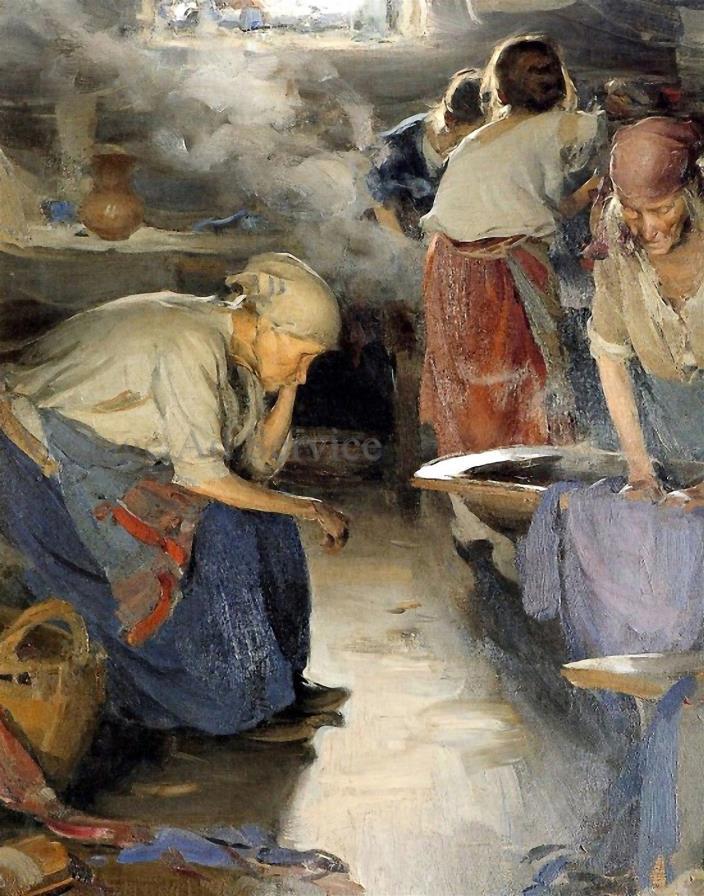 The Washer Women by Russian Artist Abram Arkhipov. Giclée Art Print. Size 11x14