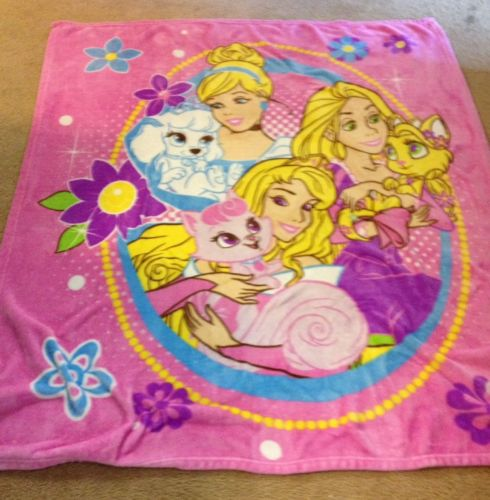 Disney Childrens Girls Princess Fleece Blanket Toddler Bed Size