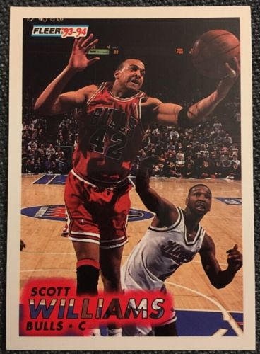 1993 1994 Fleer Scott Williams #33 Basketball Trading Card