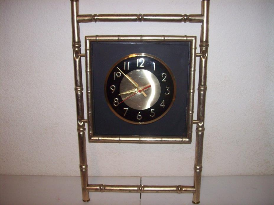 vintage metal bamboo wall clock