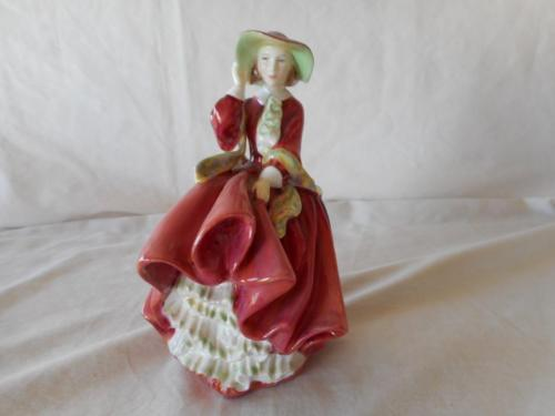 Royal Doulton TOP OF THE HILL Red Lady Figurine HN 1834 Circa 1937