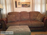 Sofa, matching chair, ottman and leather lazyboy recliner