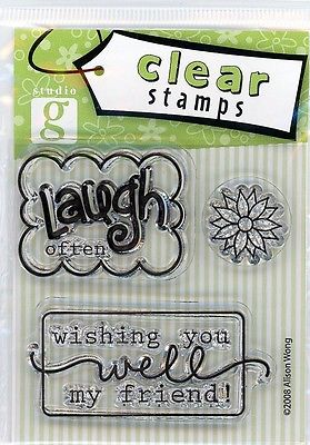 Studio G Laugh Often/Wishing You Well Clear Stamp Set -VS5740 Series 19