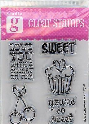 Studio G Sweet Things Clear Stamp Set -VC0003 Series 26