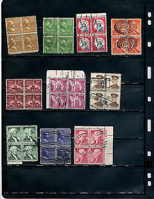 Lot 086 Assorted Used Blocks of Four  **SEE PIC**