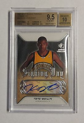 2007-08 Upper Deck SP Rookie Threads Signing Day Kevin Durant RC BGS 9.5 Auto 10