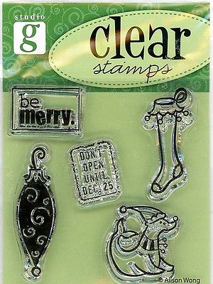 Studio G Winter Holiday Clear Stamp Set -VC5744 Series 22