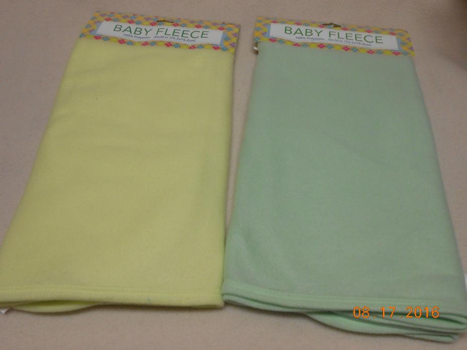 NEW LOT 2 UNISEX BABY PET FLEECE SOFT BLANKETS buy sell EMBROIDERY PERSONALIZE 2