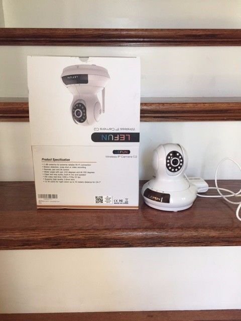 LeFun Wireless Camera, Baby Monitor WiFi ip Surveillance Camera HD 720P Nanny