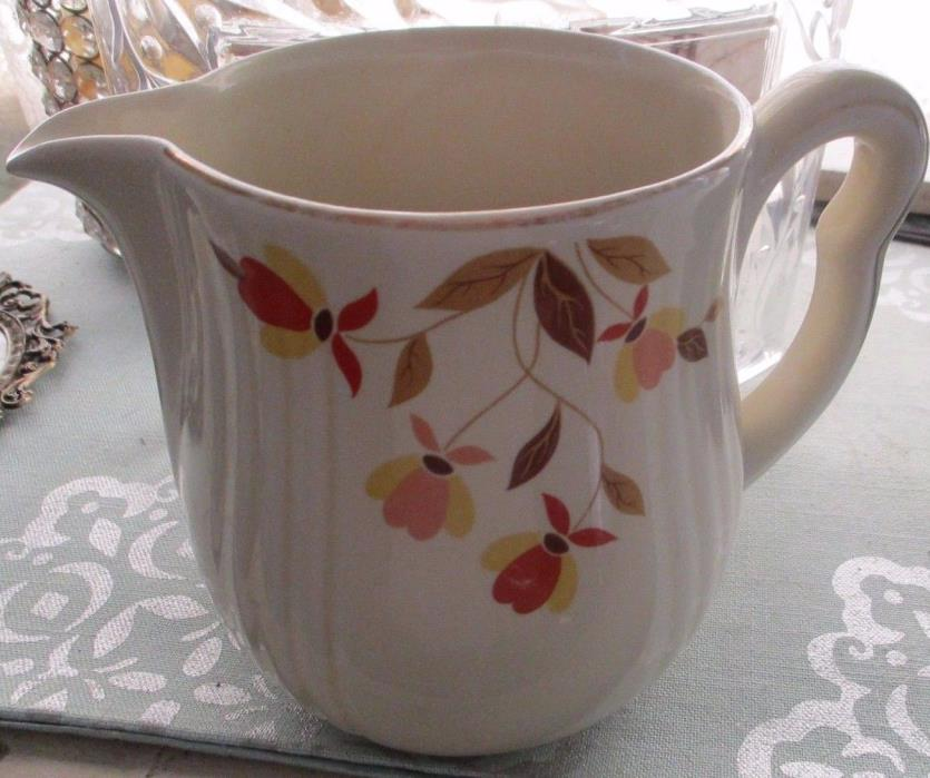 Hall's Superior China Jewel Tea Autumn Leaf Pitcher