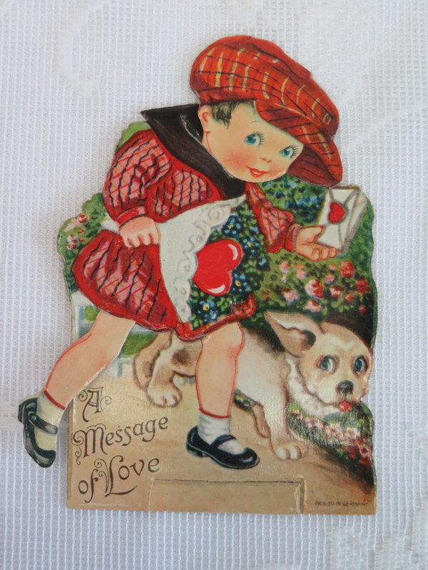 Mechanical Vintage Valentine, Valentine Delivery with Puppy