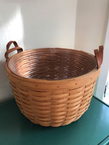 Longaberger Basket Large Round Rare 1994 With Liner