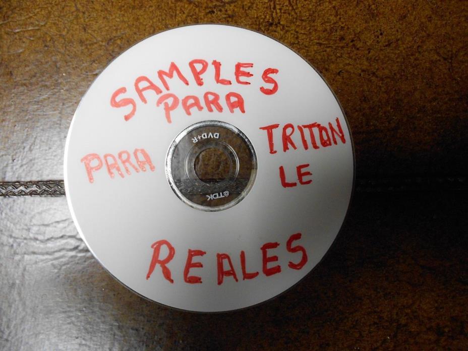 SAMPLES REALES PARA KORG TRITON LE