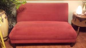 Love Seat or Accent Chair - Red - Good Condition (CLEMENTON)