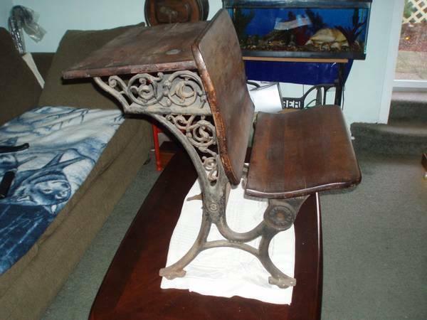 Antique Cast Iron #3 Children School Desk Buffalo