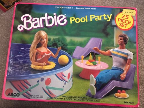 NRFB Barbie Pool Party 7321 Arco 1988