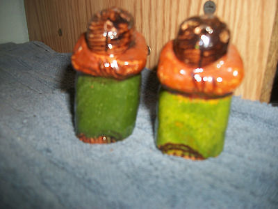 Vintage Pottery Sleeping Woman Salt & Pepper Shakers - Made in Mexico