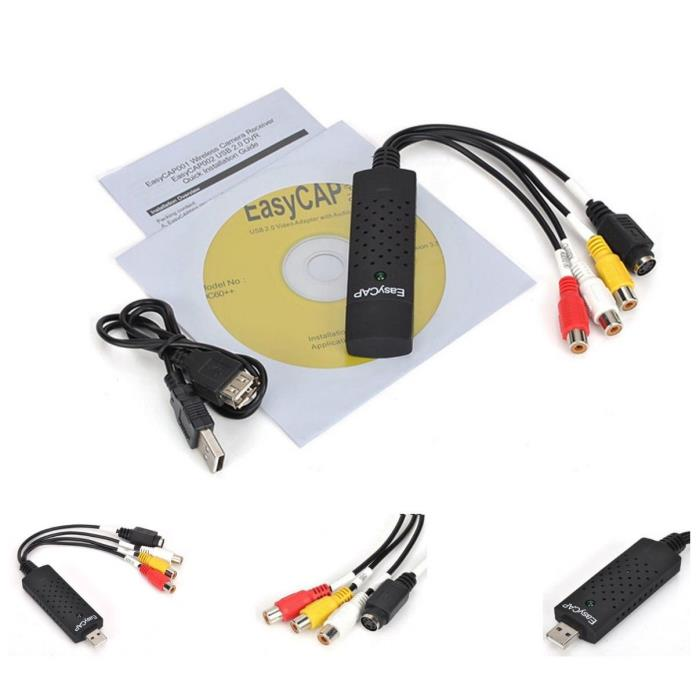 Hot Sales Easycap USB2.0 Video Audio VHS to DVD Converter Capture Card Adapter