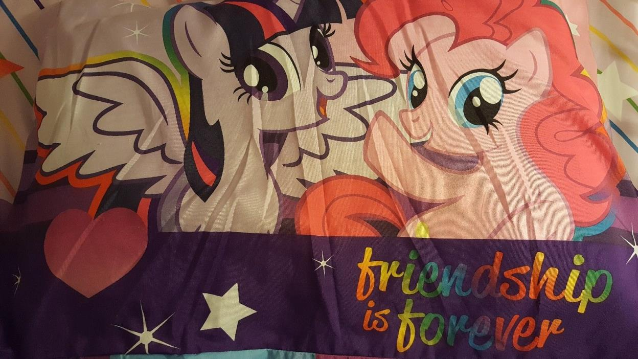 My Little Pony Twin Size Bedding Set. INC. -Comforter, sheets, curtains.