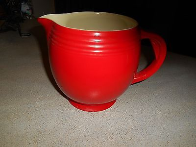 Hall China Superior Quality Kitchenware   5 banded water pitcher